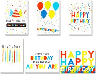 Birthday Cards -60 Pack Birthday Greeting Cards In Vibrant Colors -Happy Birthday Cards -Bulk Birthday Cards- Birthday Cards For Kids, Girls, Boys, Mom, Dad, Friends -Include 60 Envelopes- 4 x 6 Inch