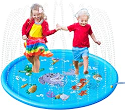MIJOYEE Splash Pad, 68 inches Splash Mat, Outdoor Water Play Sprinklers Summer Toys Fun for Infants Toddlers and Kids in Backyard Playing (Seaworld Theme)
