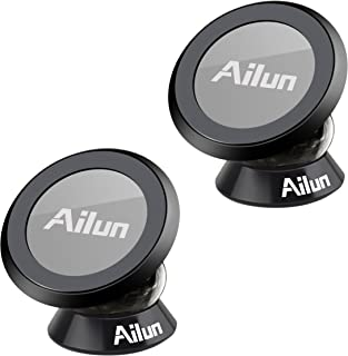 Ailun Magnetic Car Mount [2 PCS] Dashboard Car Mount, Magnet Phone Holder, Compatible iPhone X/Xs/XR/Xs Max/8/8+,Galaxy S10/S10+,S9/S9+,S8/S8+ or other Smartphone,GPS Siania Retail Package[Black]