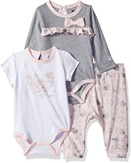 DKNY Baby Girls 3 Piece Bodysuit and Pant Set
