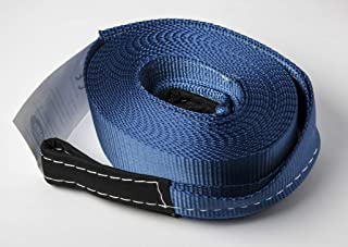 """HiGear Tow Strap 3"""" X 30', 6.5 Ton 3 Inch X 30 Ft. Polyester Rope with 2 Loops 14,000lb Towing Recovery SUV Car Truck by A..."""