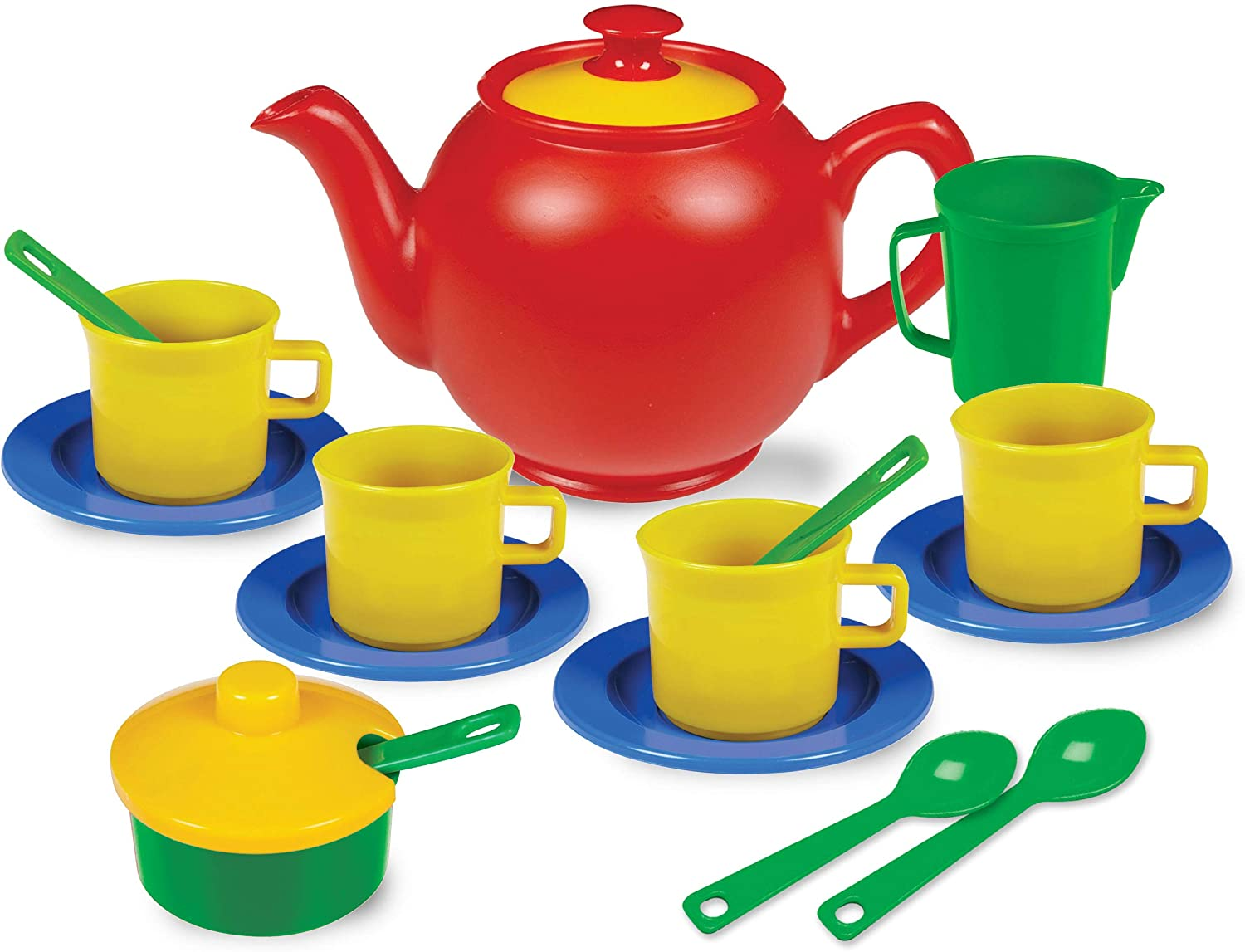 Kidzlane Play Tea Set 15+ Durable Pieces Safe Plastic Free Directly managed store shipping on posting reviews and BPA