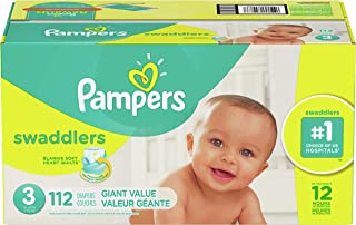 Diapers Size 3, 112 Count - Pampers Swaddlers Disposable Baby Diapers, Giant Pack