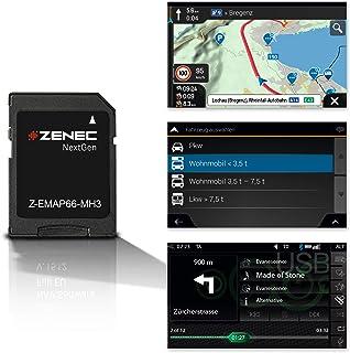 ZENEC Z EMAP66 MH3: Micro SD Karte mit Reisemobil Navigation für ZENEC Autoradios/Multimediasysteme Z E3766, Z N965, Z N966, 3 D Karten für Europa, Camping P.O.I. für Wohnmobile, TMC