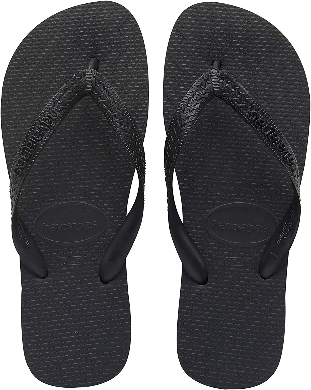Havaianas Logo Metallic - Black (Synthetic) Womens Sandals