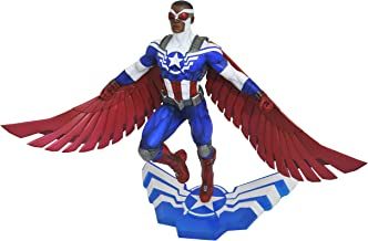 Diamond Marvel Gallery - Estatua de Sam Wilson Capitán America de 25 cm