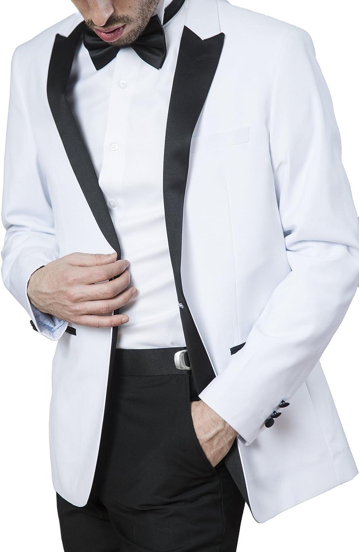 London Fog Mens Peak Lapel /& Shawl Collar Regular Fit Two Piece Tuxedo Suit