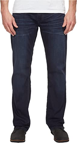 Buffalo David Bitton Driven Relaxed Straight Leg Jeans in Dark Blue Wash