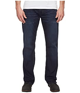 Driven Relaxed Straight Leg Jeans in Dark Blue Wash