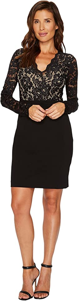 Karen Kane - Becca Contrast Lace Dress