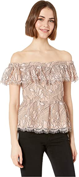 Terrace Scallop Lace Top