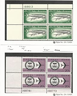 Canal Zone (USA), Postage Stamp, C36, C45 Mint NH Blocks, 1964-5 Airmail
