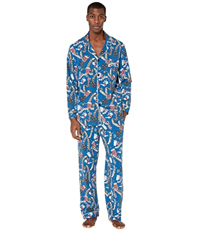 BedHead Pajamas Long Sleeve Classic Pajama Set (Movie Night) Men