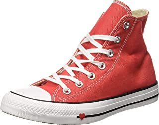 Converse Women's Textile Sedona Red/Black/White Sneakers-7 UK/India (40 EU) (8907788162611)