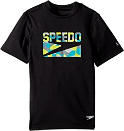 Speedo Kids - Sharkamo Boom Short Sleeve Swim Tee (Little Kids/Big Kids)