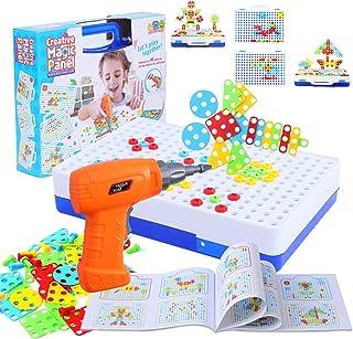 FORMIZON Mosaique Enfant Puzzle, 151 Pièces Jouet à Visser Mosaique Puzzle Jeu Construction Jouet Montessori Kit Mosaique ...