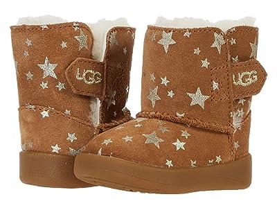 UGG Kids Keelan Stars (Infant/Toddler) (Chestnut) Girls Shoes