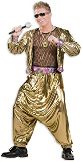 Men's 80's Video Superstar Costume, Gold, One Size