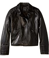 eve jnr - Leather Moto Jacket (Little Kids/Big Kids)