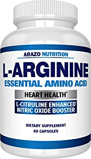 Premium L Arginine - 1340mg Nitric Oxide Booster with L-Citrulline & Essential Amino Acids for Heart and Muscle Gain - Nit...