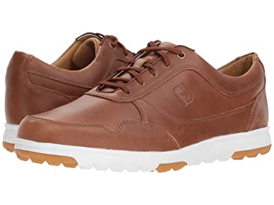 FootJoy Golf Casual Spikeless Street Sneaker (All Over Taupe Blaze Smooth) Men