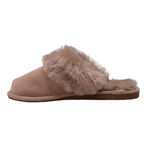 adbd6a16299f Vogar Ladies Genuine Sheepskin Leather Mule Slippers Soft Wool Lining House  Shoes