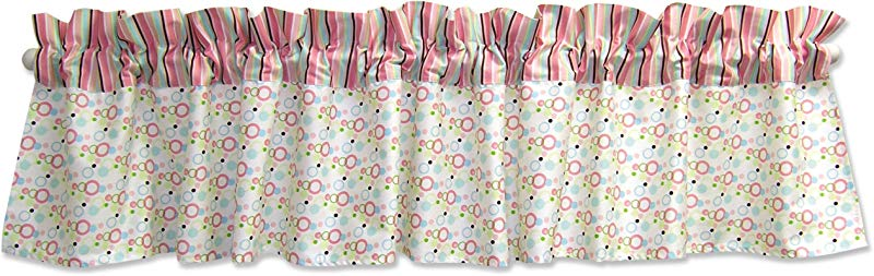 Trend Lab Cupcake Window Curtain Valance Pink Blue Green