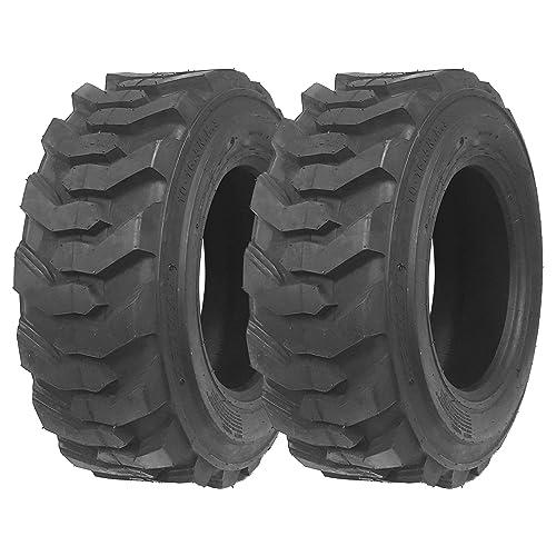 Set of 2 New ZEEMAX Heavy Duty 12-16.5/14PR G2 Skid Steer Tires for Bobcat w/Rim Guard