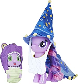 My Little Pony Twilight Sparkle and Spike the Dragon Collector's Series Figures - Star Swirl the Bearded Outfit and Spell Book Package for Display (Amazon Exclusive)