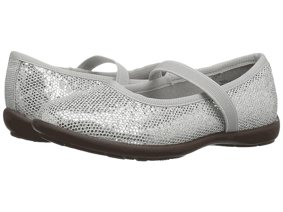 Jumping Jacks Kids Balleto Necklace II (Toddler/Little Kid/Big Kid) (Silver Glitter) Girls Shoes