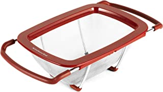 KitchenAid Expandable Stainless Steel Colander/Strainer, Red - KC867OSERA