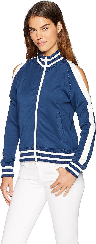 Pam & Gela Women's Cold Shoulder Track Jacket