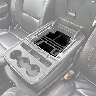 Red Hound Auto Center Console Organizer 1 Piece Upper Armrest Only Insert Compatible with Chevy Chevrolet GMC Silverado Sierra 1500 2500 2015 2016 2017 2018 Black Made in USA Fold Down Console Only