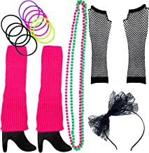 80s Costume for Women. The Perfect 80s Women Costume Set to Make You The Hit of The Party Pink (A)