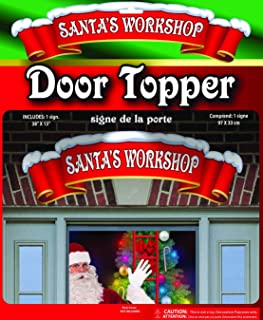 Nicky Bigs Christmas Santa's Workshop Door Topper Banner 38