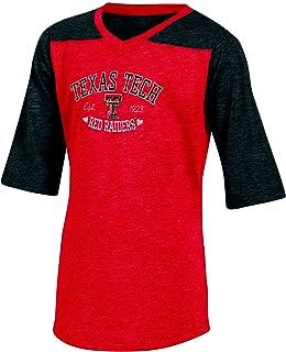 NCAA Texas Half sleeve Tunic Tee wit
