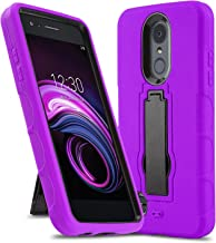 Phone Case for [LG Rebel 4 (L212VL, L211BL)], [Impact Series][Purple] Shockproof [Easy Grip] Cover with [Kickstand] for LG Rebel 4 (Tracfone, Simple Mobile, Straight Talk, Total Wireless)