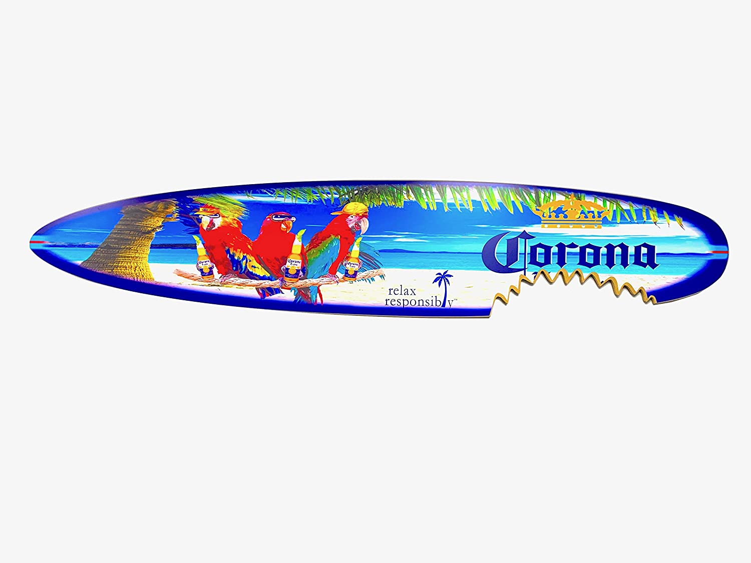 Extra Large 6 Ranking TOP16 Foot Corona Parrots The Beach Fees free!! Sign Surfboard On De