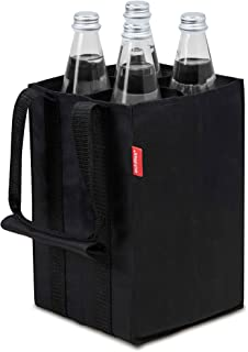 achilles Bolsa de 4 Botellas, Bolsa para 4 Botellas de 1,5 litros, Estuche con Paredes divisorias, portabotellas en Negro, 17 cm x 17 cm x 27 cm