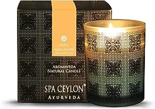 Spa Ceylon Luxury Ayurveda Neroli Jasmine Aromaveda Natural Candle - (3 Inch x 3.5 Inch x 3.2 Inch )