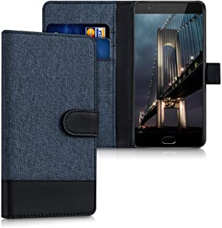 kwmobile OnePlus 3 / 3T 用 ケース - スマホカバー 手帳型 PUレザー - 携帯 保護ケース カードポケット スタンド 付き