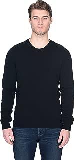 Men's Basic Crewneck Sweater Cashmere Merino Wool Long Sleeve Pullover
