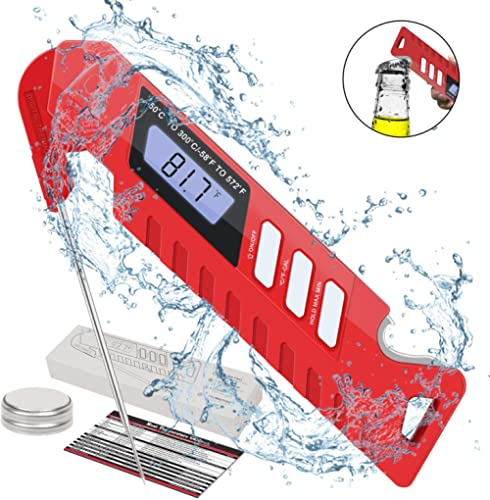 Fenvella Meat Thermometer, 3s Digital Instant Read Thermometer, Upgraded Waterproof Candy Thermometer with Backlight,...