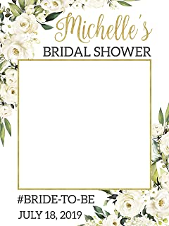 Flower Bridal Shower Wedding Photo Booth prop, Bridal Shower Decoration - Sizes 36x24, 48x36; Party Decorations, Photo prop. Photobooth, Wedding selfie frame, Handmade Party Supplies, Bride to be