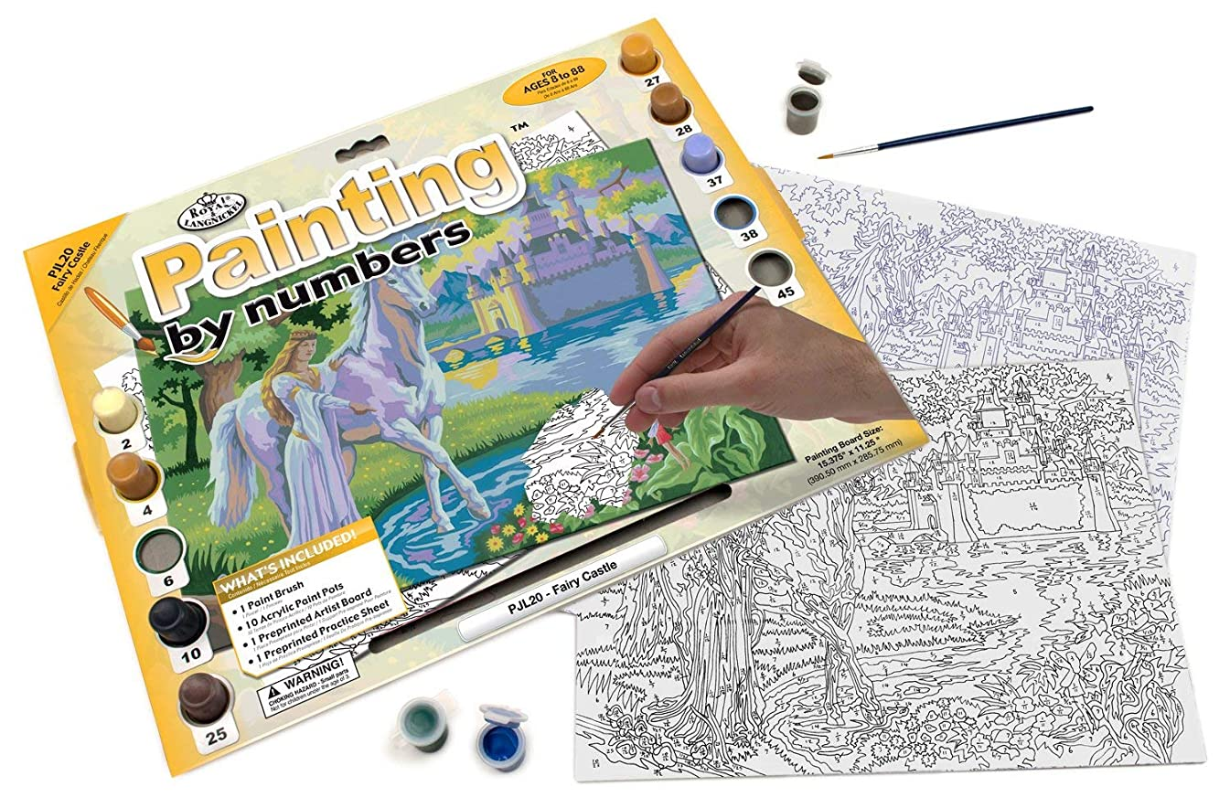 Royal & Langnickel Painting by Numbers Junior Large Art Activity Kit, Fairy Castle