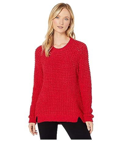 Tribal Long Sleeve Crew Neck Sweater (Dark Crimson) Women