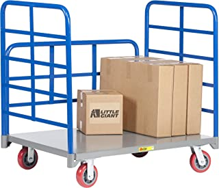 Little Giant DRB-3048-6PY Double End Rack Platform Truck with Side Rack, 30