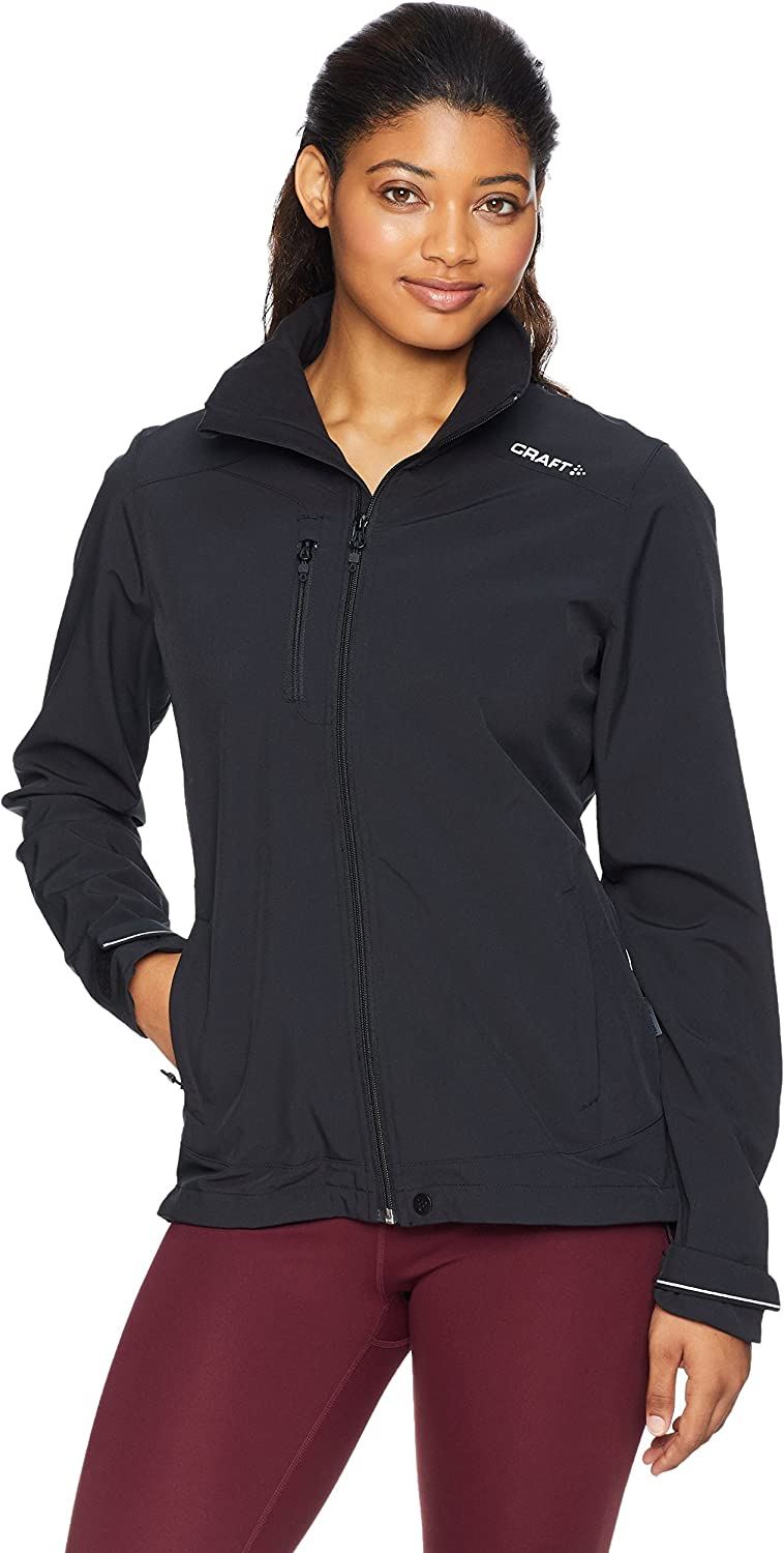 Craft Sportswear Men's Light Softshell 3 Layer Jacket with Detachable Hood and Adjustable Cuffs