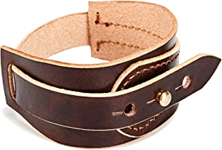 Handmade Unisex Genuine Leather Bracelet, Punk, Adjustable Cuff Wristband