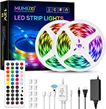 MUMUXI LED Strip Lights, 32.8ft Music Sync Color Changing Led Light Strip with 44 keys Music Remote Control and 12V Power ...